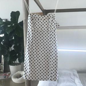 NBW Zara white with black polka dots mini dress 💗